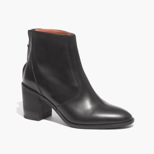 Madewell Ames Ankle Boots Heeled Leather Bootie